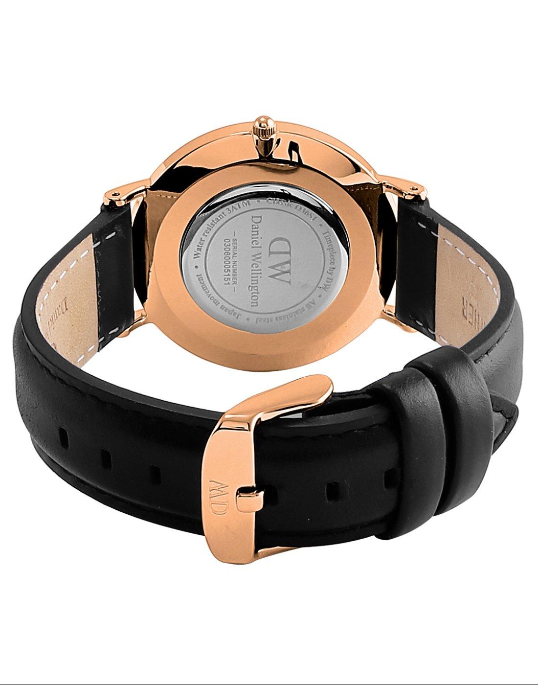 Daniel Wellington Trenduhren  Petite Ashfield, Schwarz/Roségold Uhr, 28mm, Mesh, für Damen