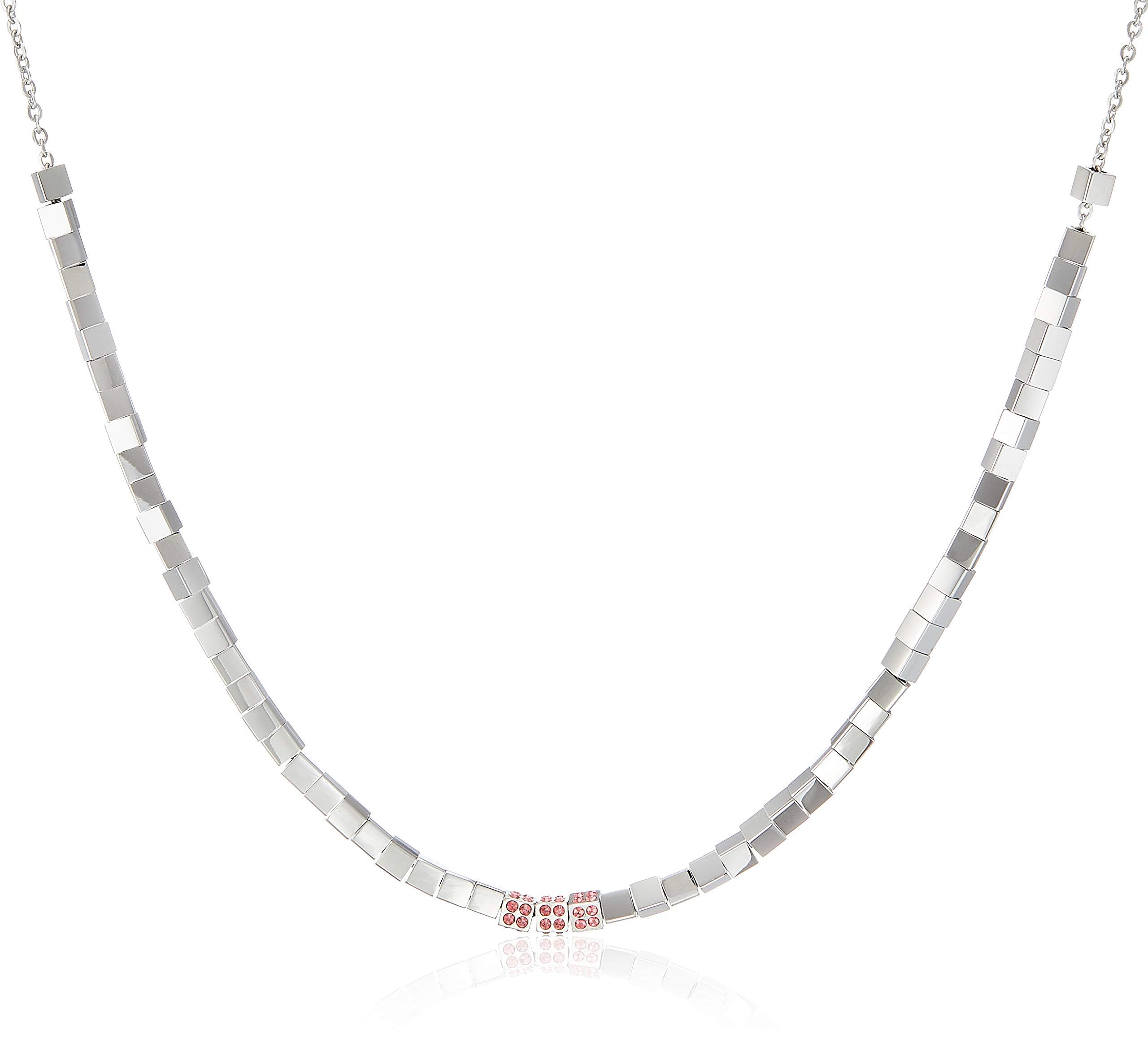 Damen-Kette Edelstahl/Kristall Swarovski Kristalle One Size Silber 32003215