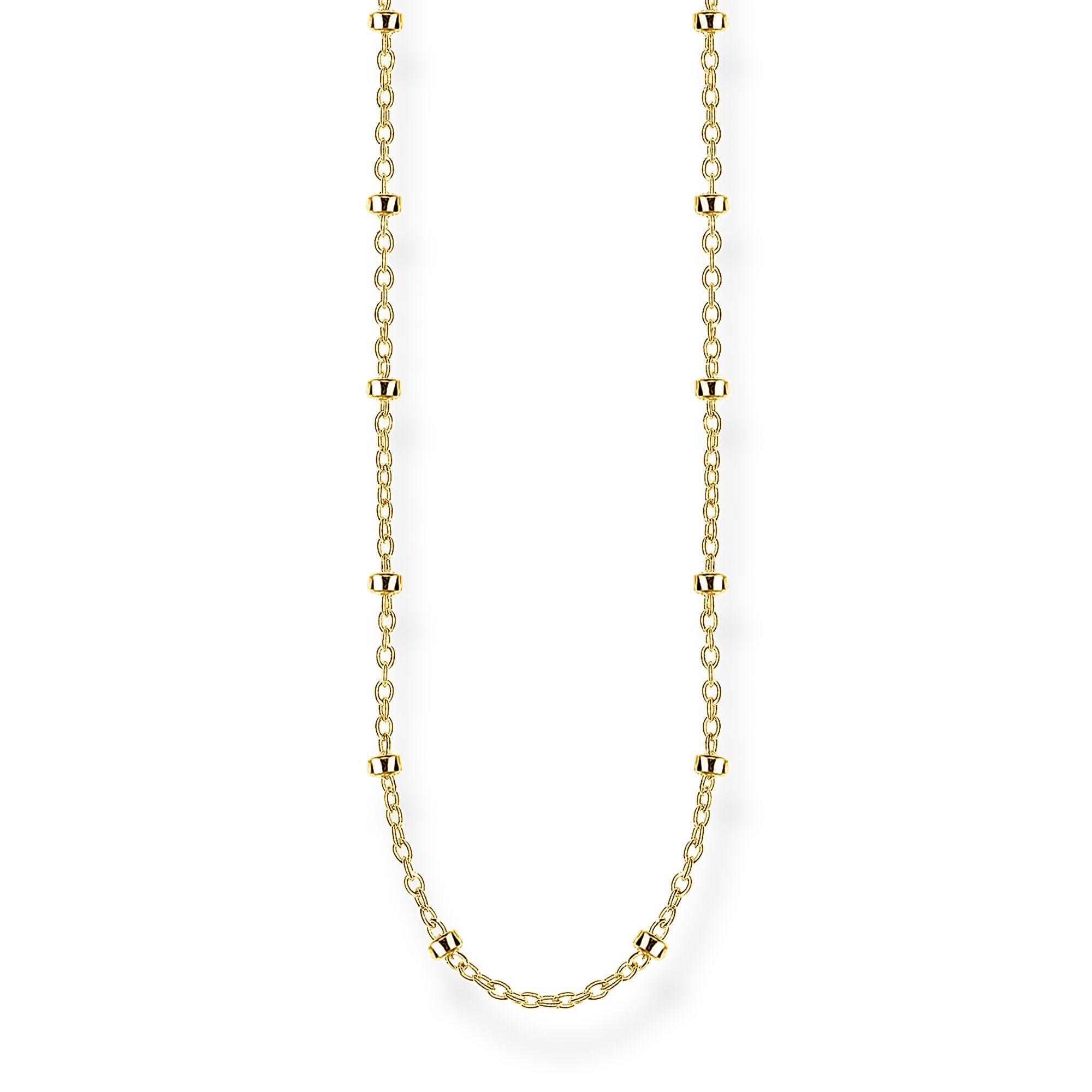 KE1890-413-39 Kette Damen Erbskette Silber Gold 60 cm