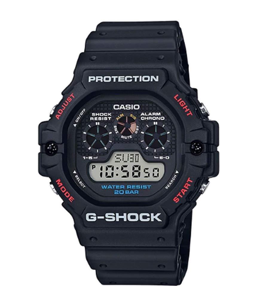 Herren Digital Quarz Uhr mit Harz Armband DW-5900-1ER