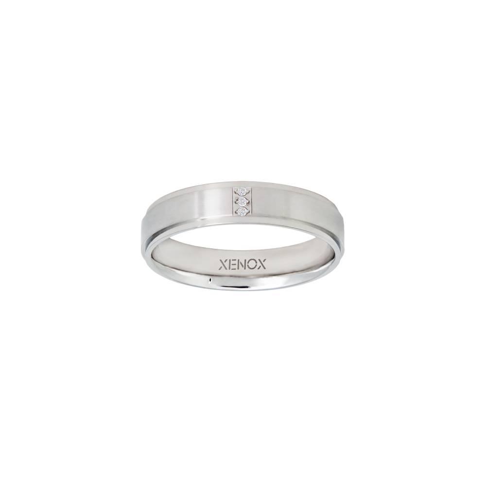 Damen-Ring, Weite: 60 mit Zirkonia, Stahl, XENOX & friends X2265
