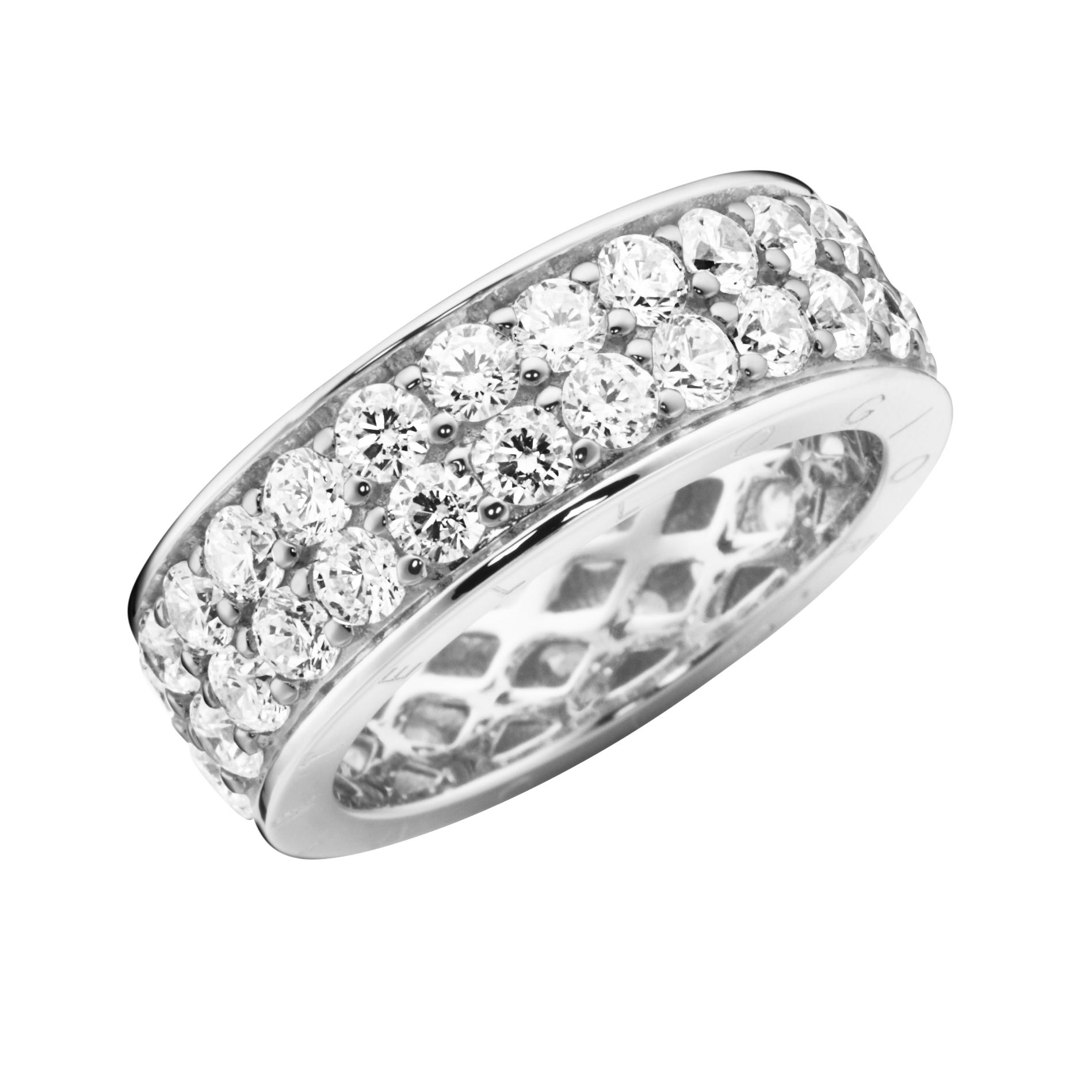 Memoire-Ring, 2-reihig, mit Zirkonia