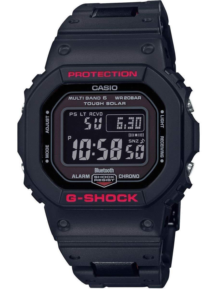 Herren Digital Quarz Uhr mit Resin Armband GW-B5600HR-1ER
