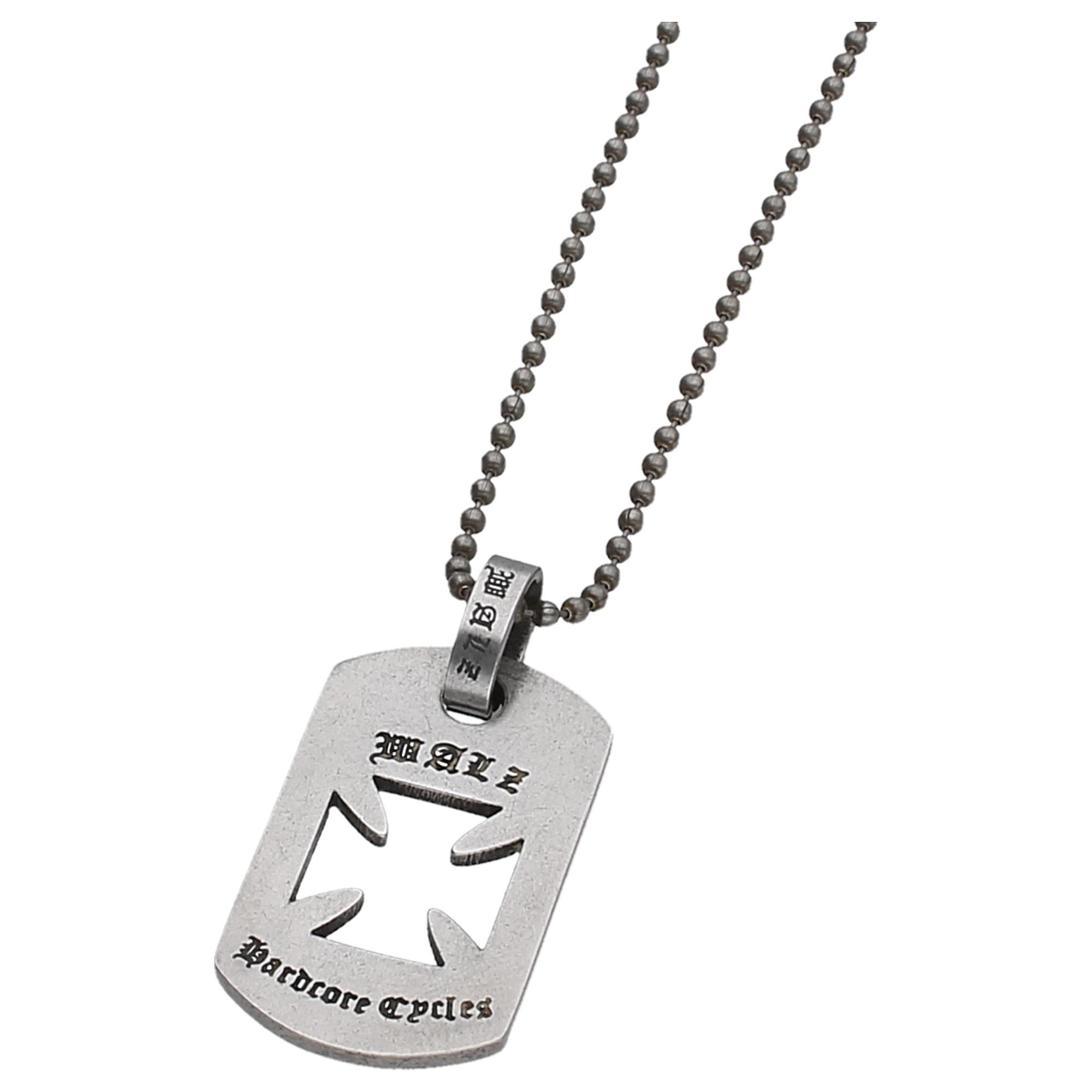 m. Kreuz, an Kugelkette, Edelstahl