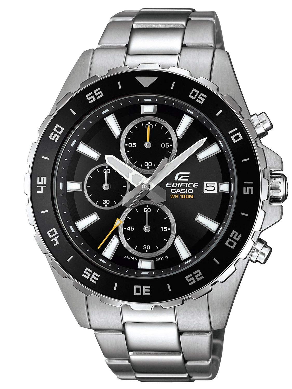 Herren Analog Quarz Uhr mit Edelstahl Armband EFR-568D-1AVUEF