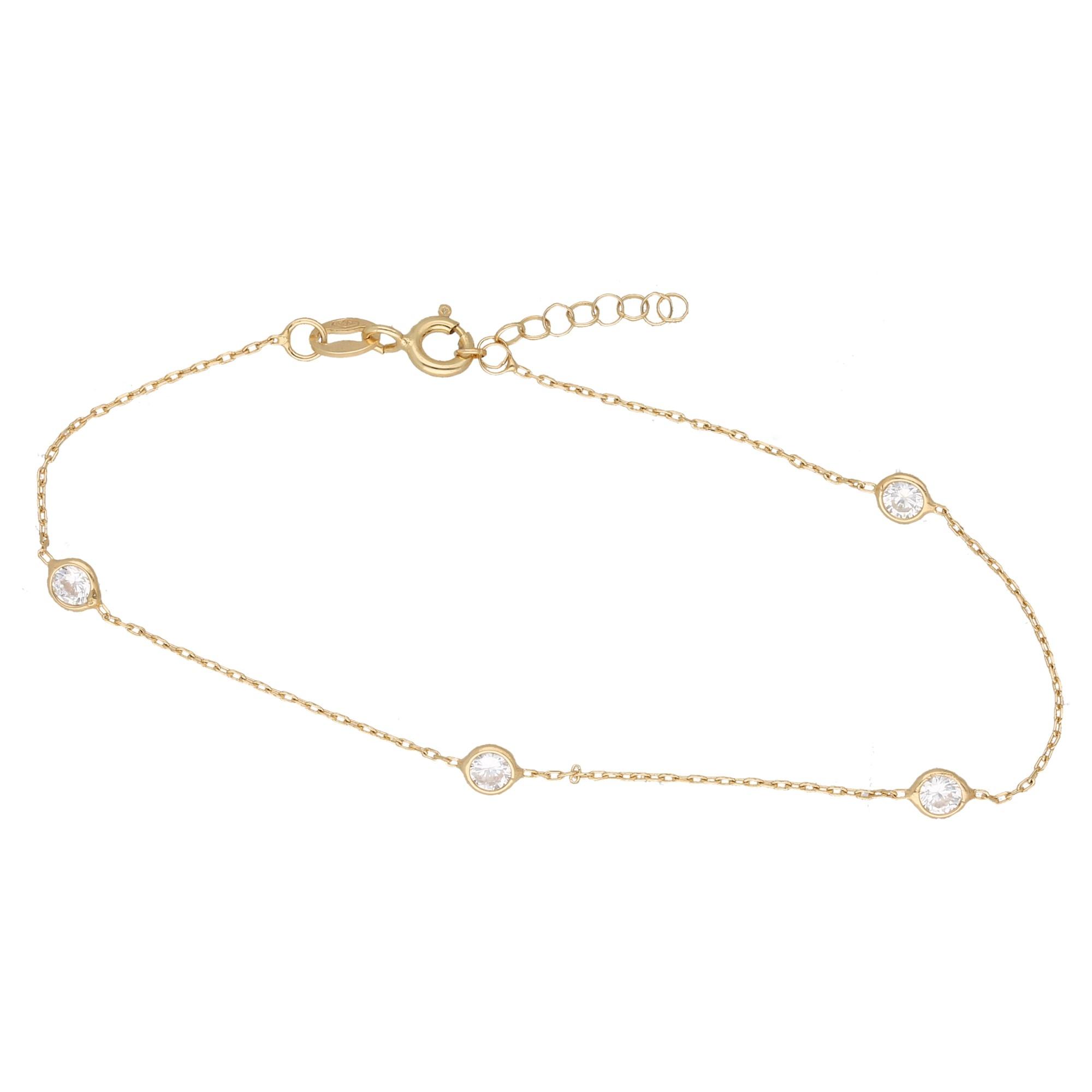 Armband mit Zirkonia, Gold 375