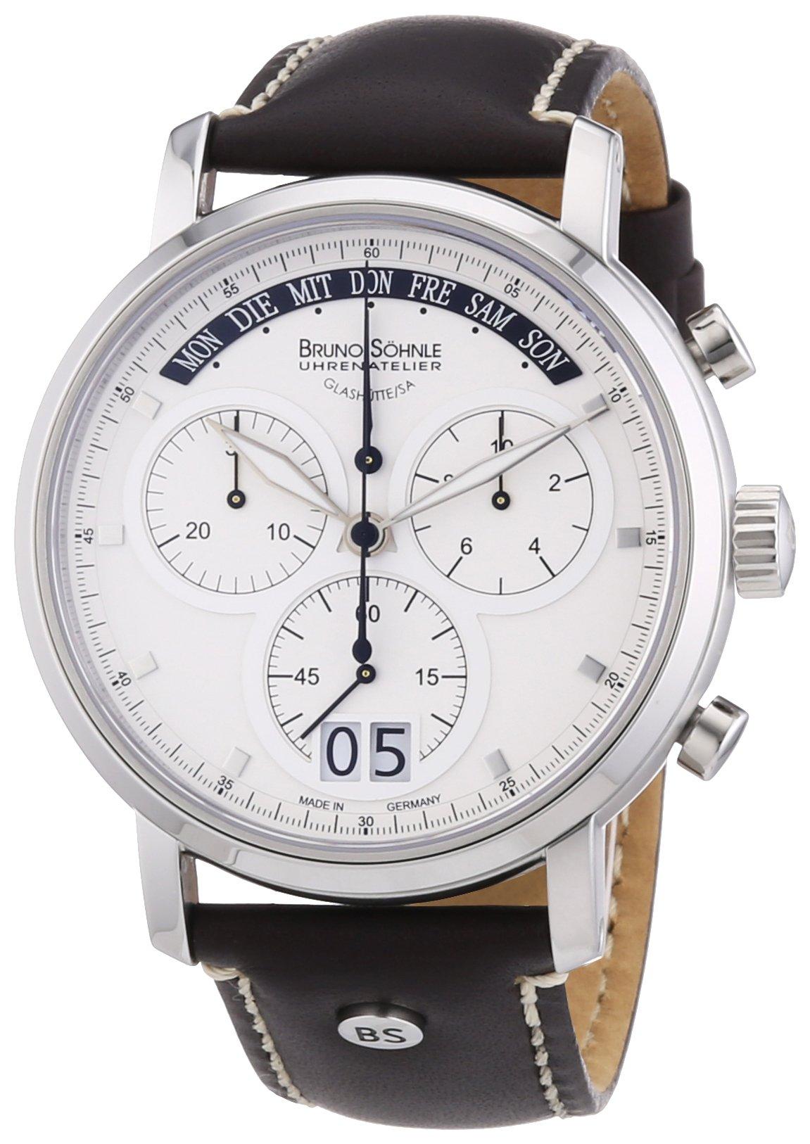 Herren-Armbanduhr XL Marcato Chronograph Quarz Leder 17-13143-241