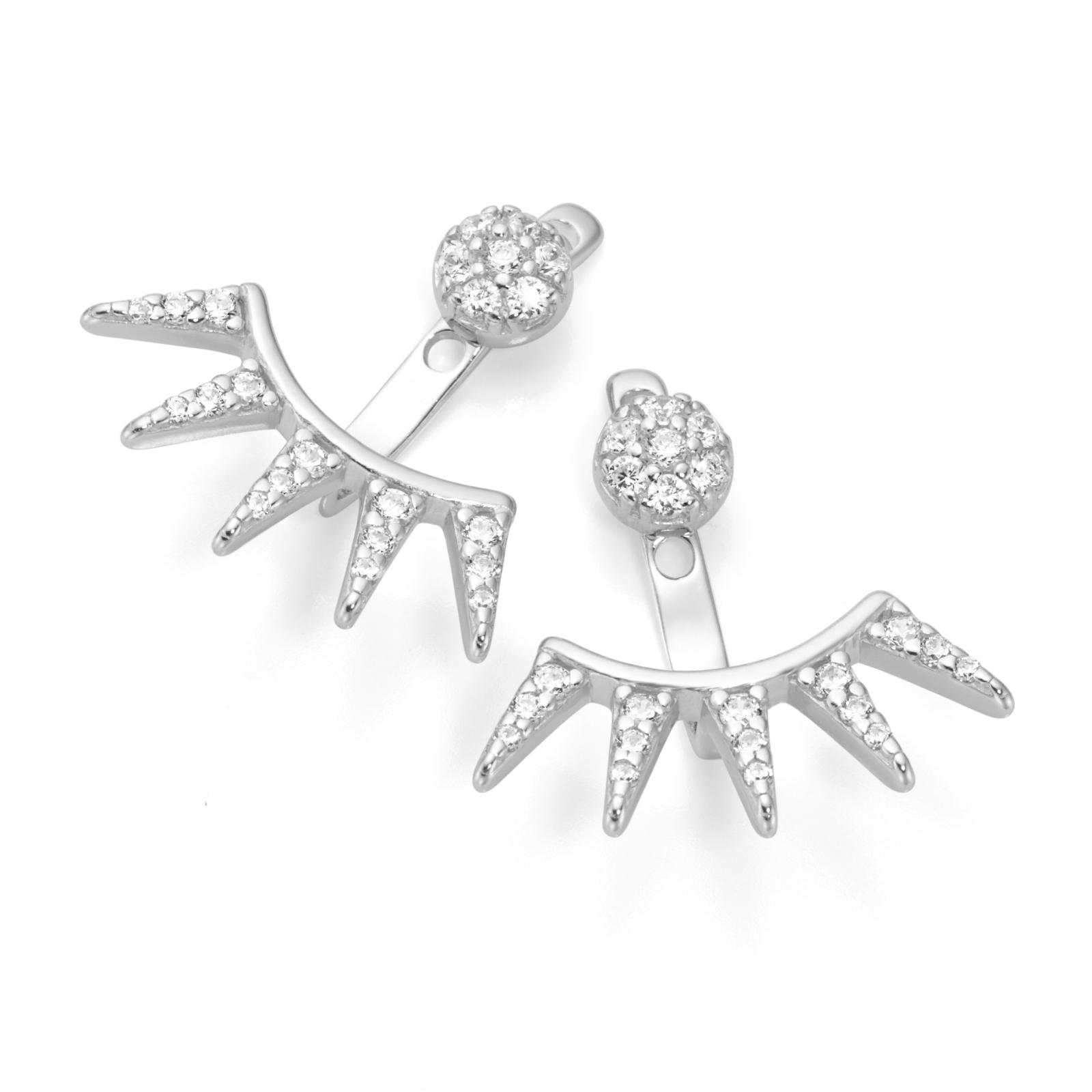 2-teilig Einhänger mit Zacken, Silber 925