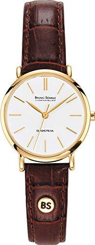 Damen Analog Quarz Uhr mit Leder Armband 17-33045-941