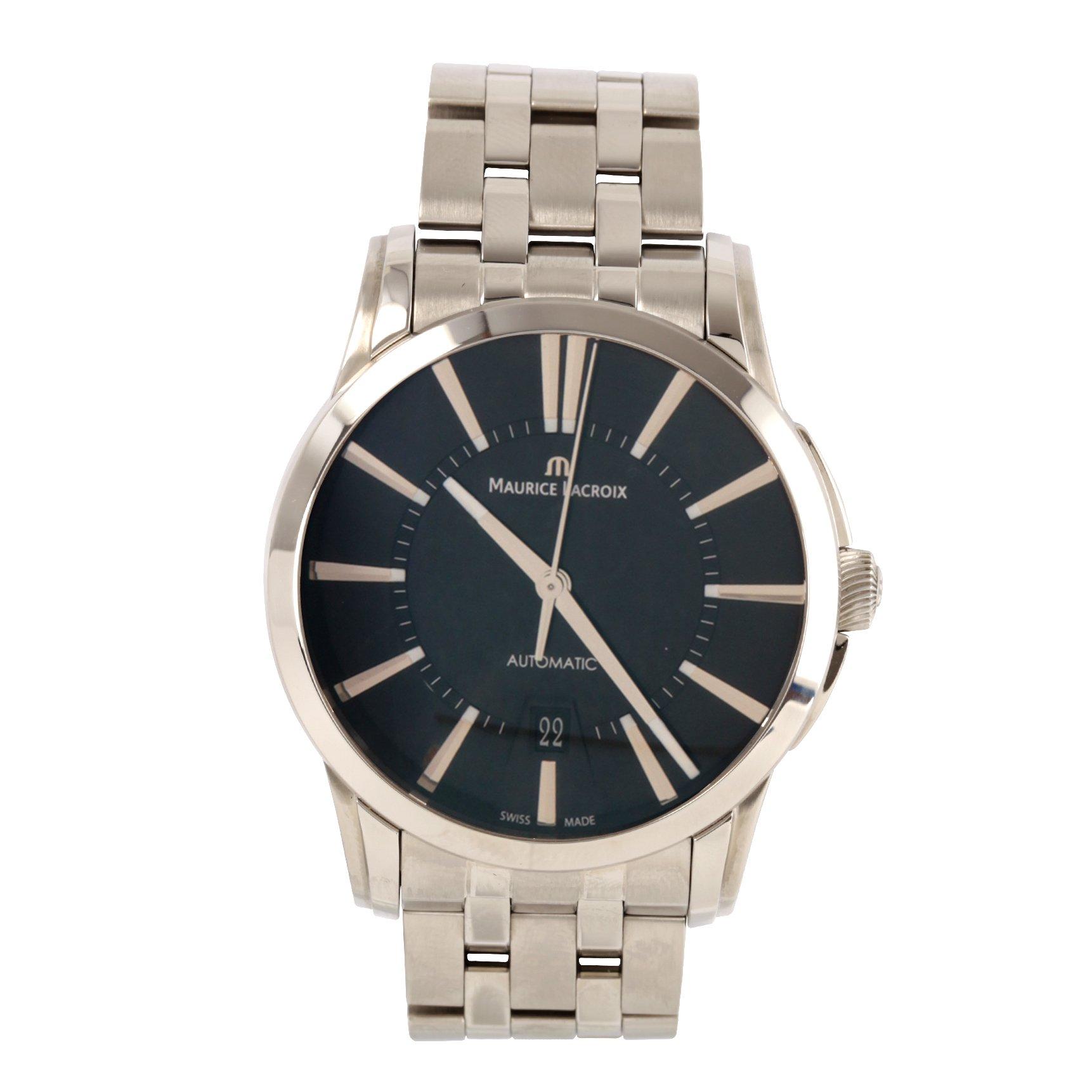 Maurice Lacroix Automatikuhren  Herren-Armbanduhr XL Pontos Date Analog Automatik Edelstahl PT6148-SS002-330