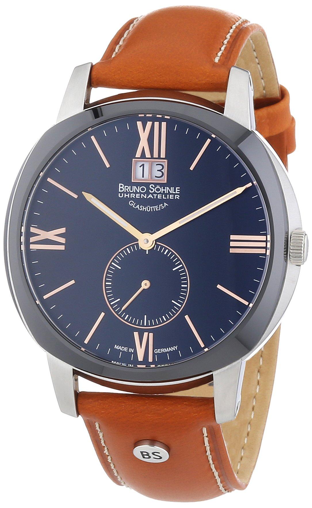 Herren-Armbanduhr XL Analog Quarz Leder 17-73146-735