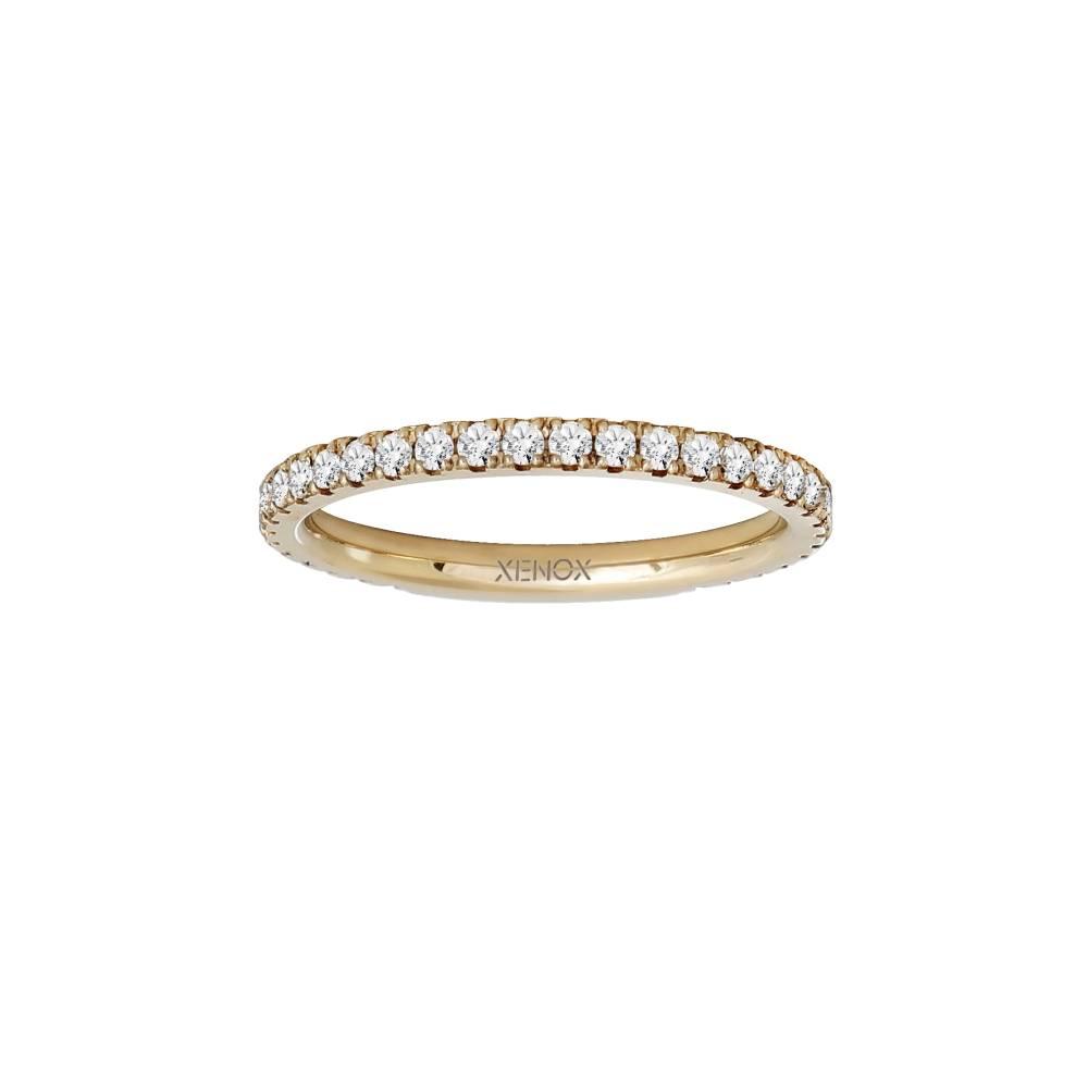 Damen-Ring, Weite: 54 mit Zirkonia, Stahl, XENOX & friends X2300G