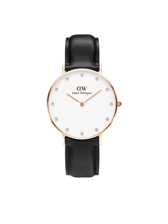 Daniel Wellington Trenduhren  Damen Analog Quarz Uhr mit Leder Armband DW00100076