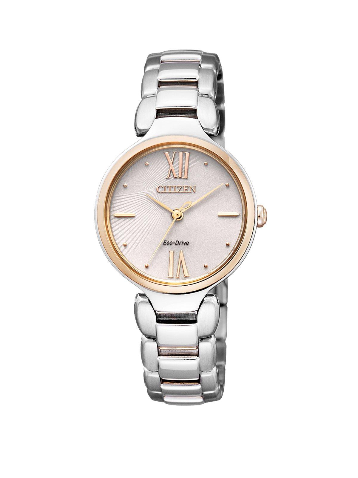 Damen-Armbanduhr XS  L Analog Quarz Edelstahl EM0024-51W