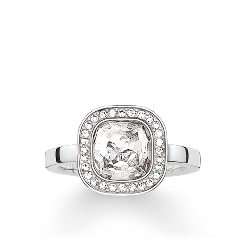 Damen-Ring 925er Silber Zirkonia TR2029-051-14-52