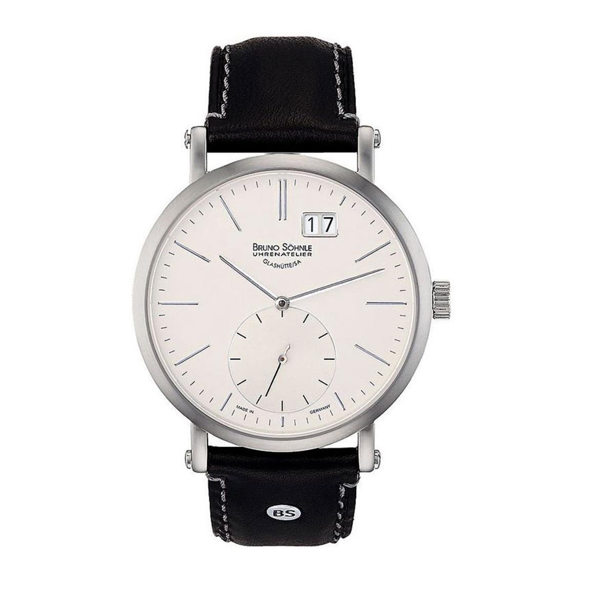 Herren Analog Quarz Uhr mit Leder Armband 17-13095-241