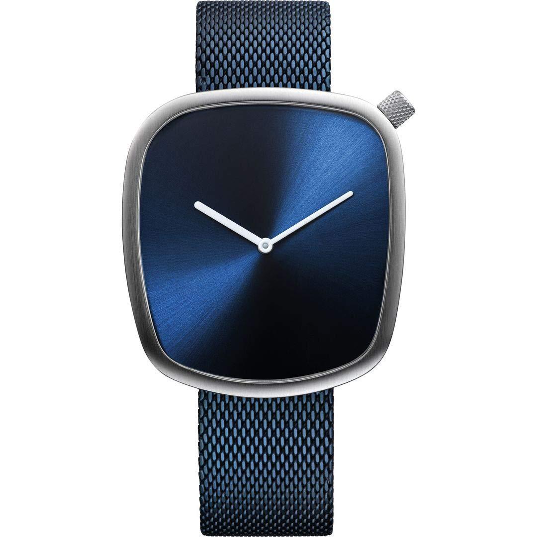 Armbanduhr analog Quarz mit Edelstahl-Armband 18040-307