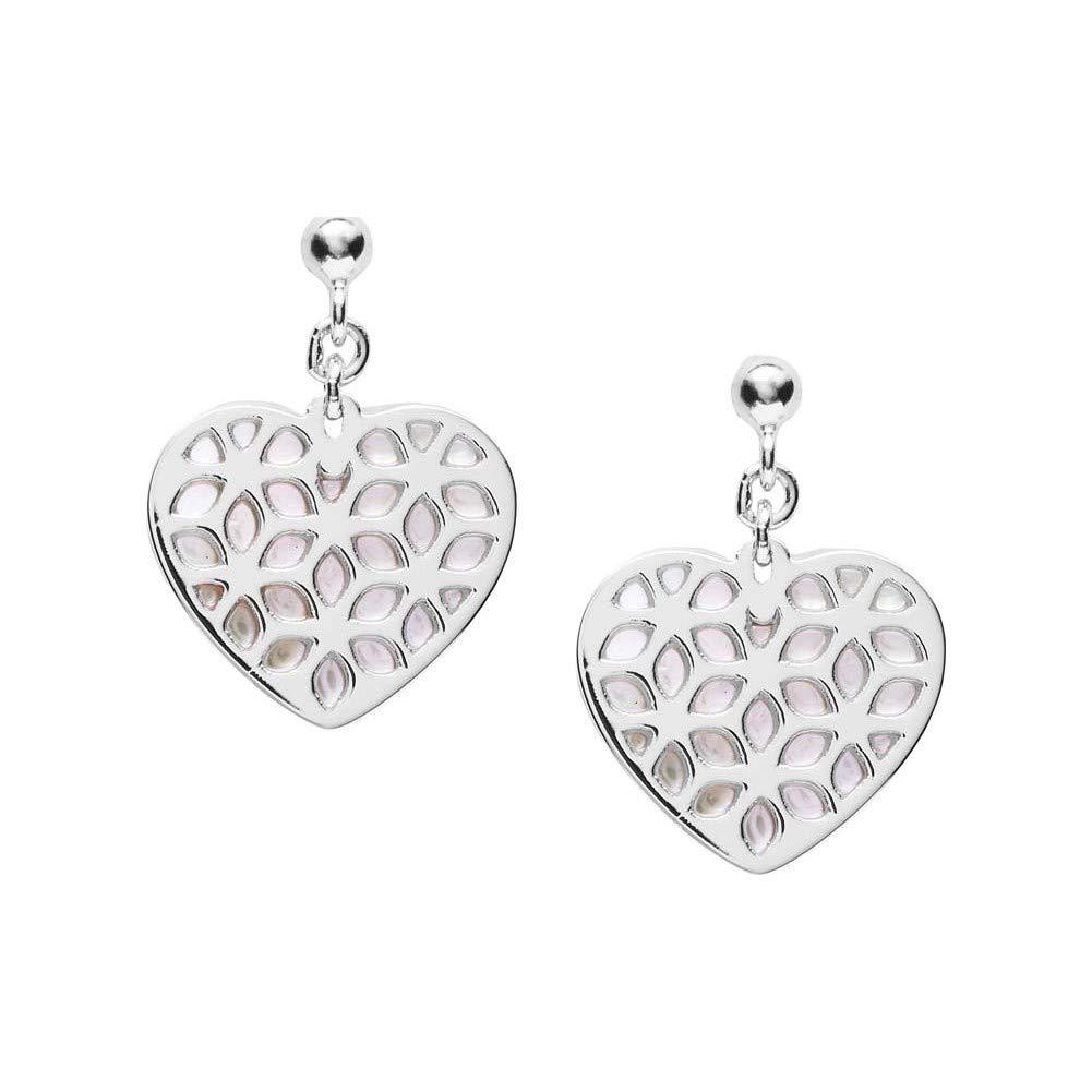 Ohrringe JFS00489040 Damen Ohrringe Herz heart cut out Silber Weiß