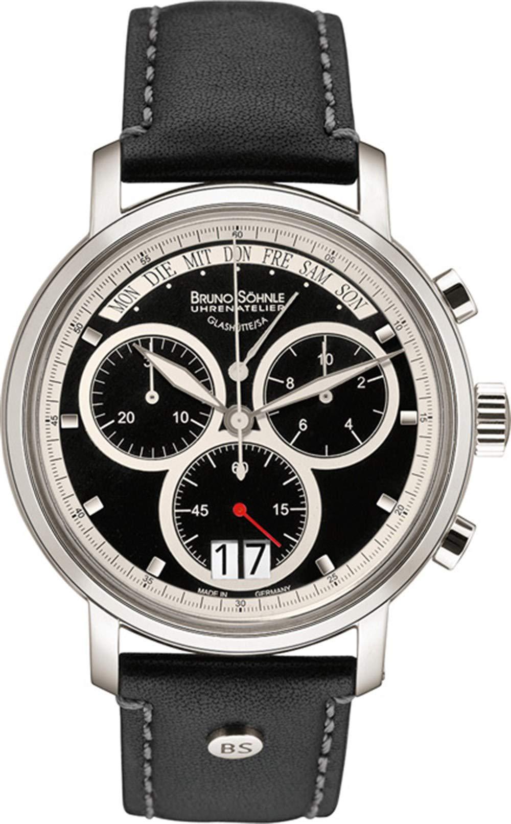 Herren-Armbanduhr Marcato Chronograph Quarz Leder 17-13143-741