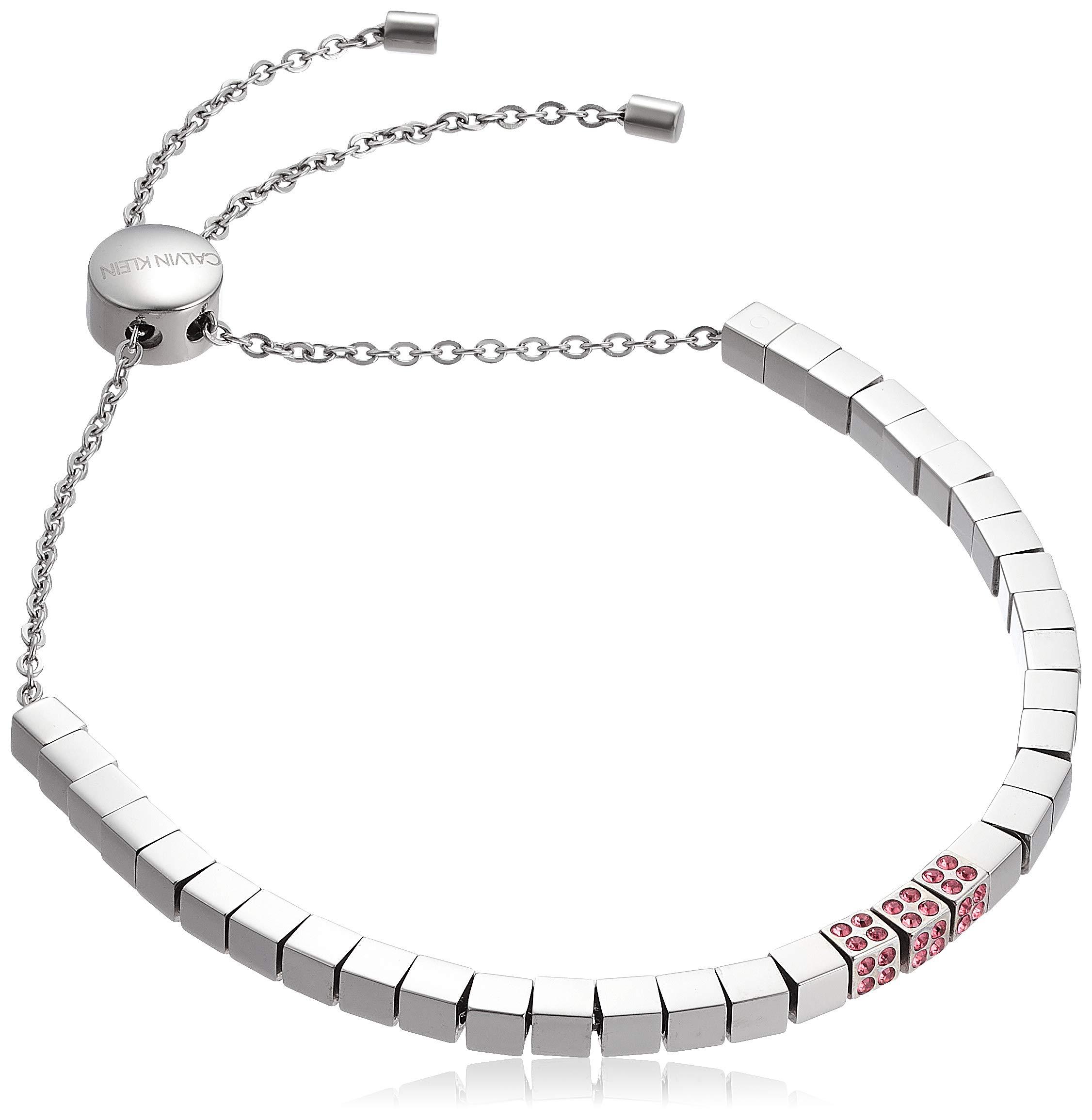 Damen-Armband Edelstahl/Kristall Swarovski Kristalle One Size Silber/rot 32003221