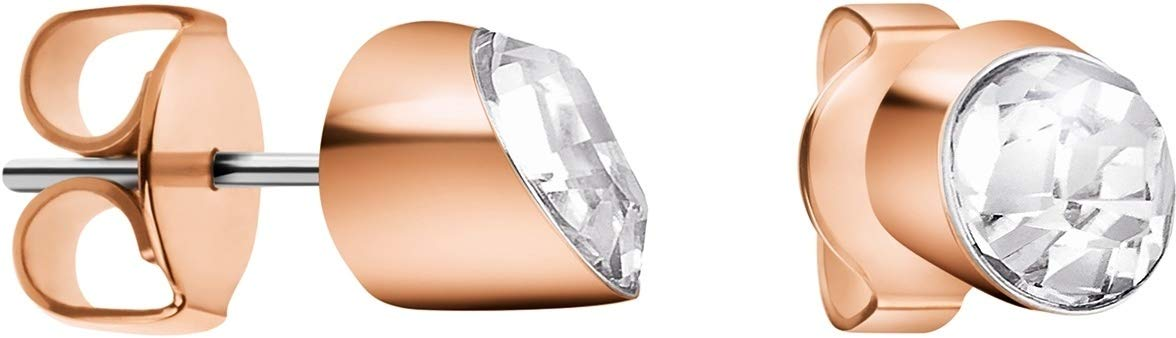 Ohrstecker mit Swarovski Kristallen, Edelstahl, poliert
