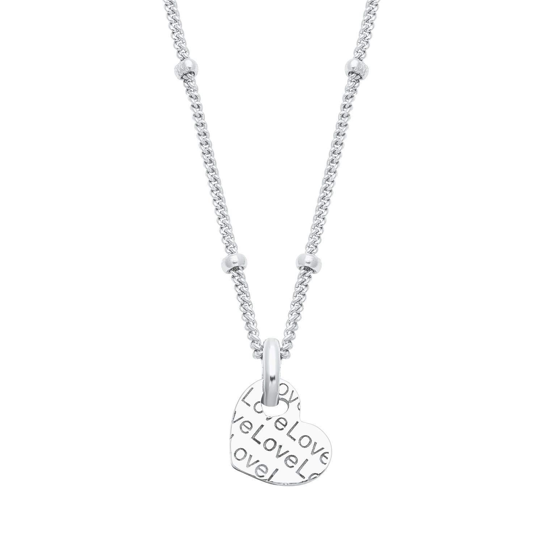 Kette mit Anhänger für Damen mit Herzanhänger, 925 Sterling Silber