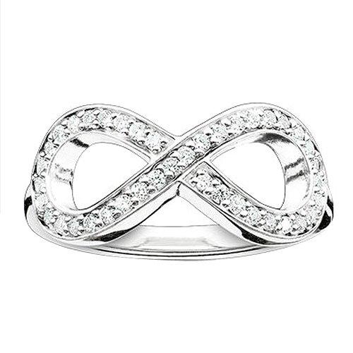 Damen-Ring 925er Silber Zirkonia TR2014-051-14-52
