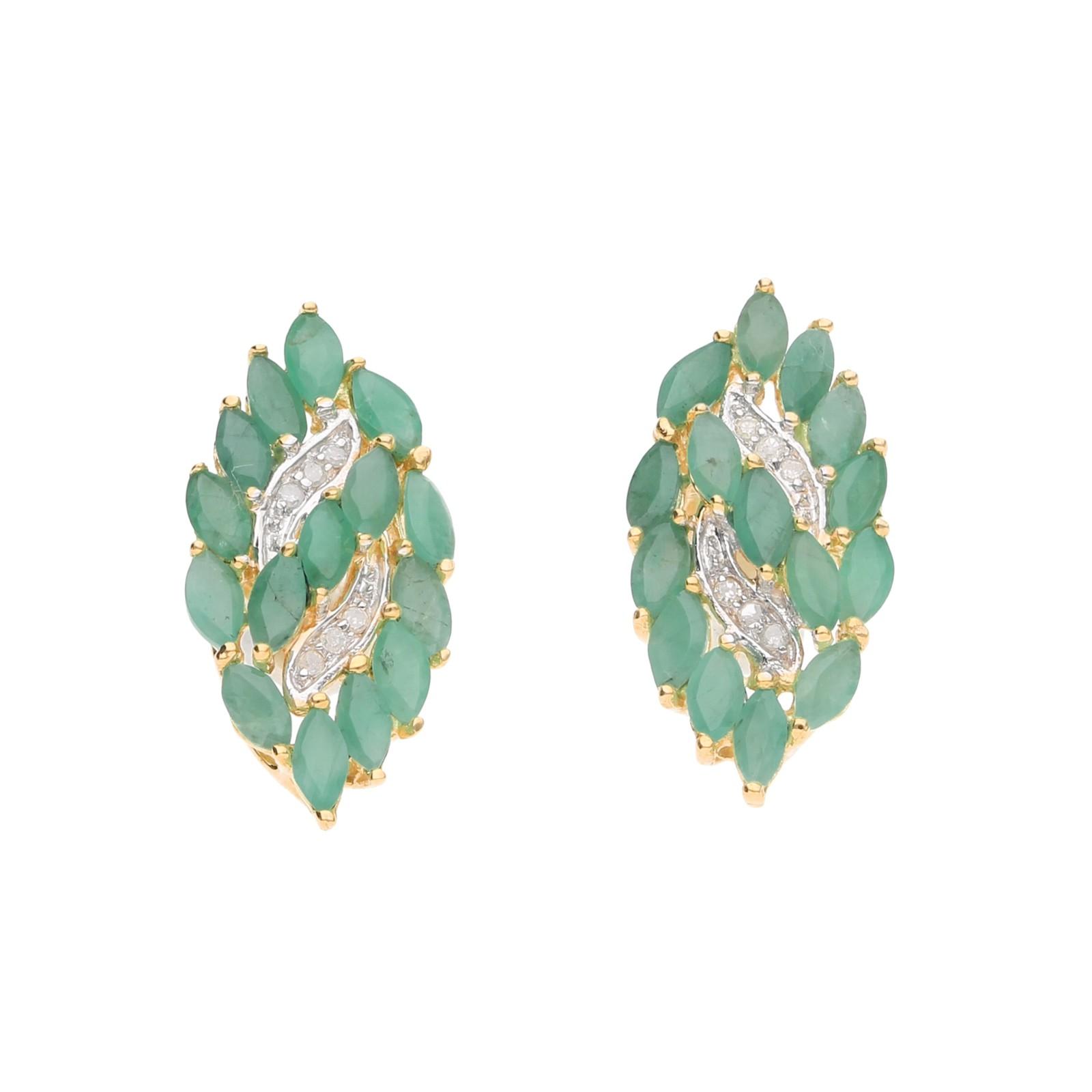 Smaragde und Diamanten, Gold 585
