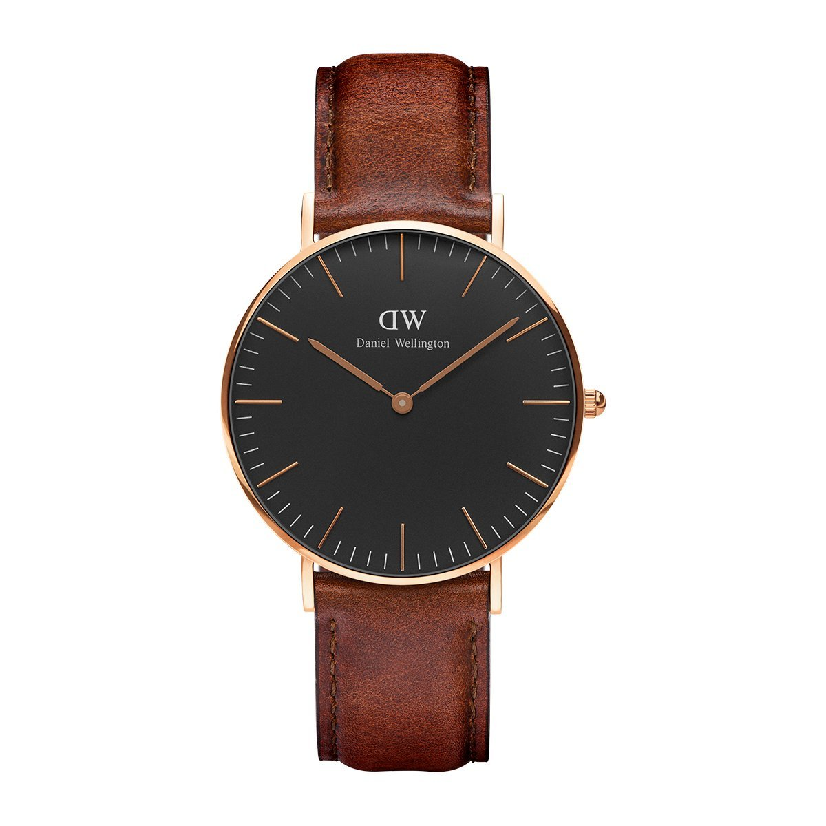 Classic St Mawes, Braun/Roségold Uhr, 36mm, Leder, für Damen und Herren