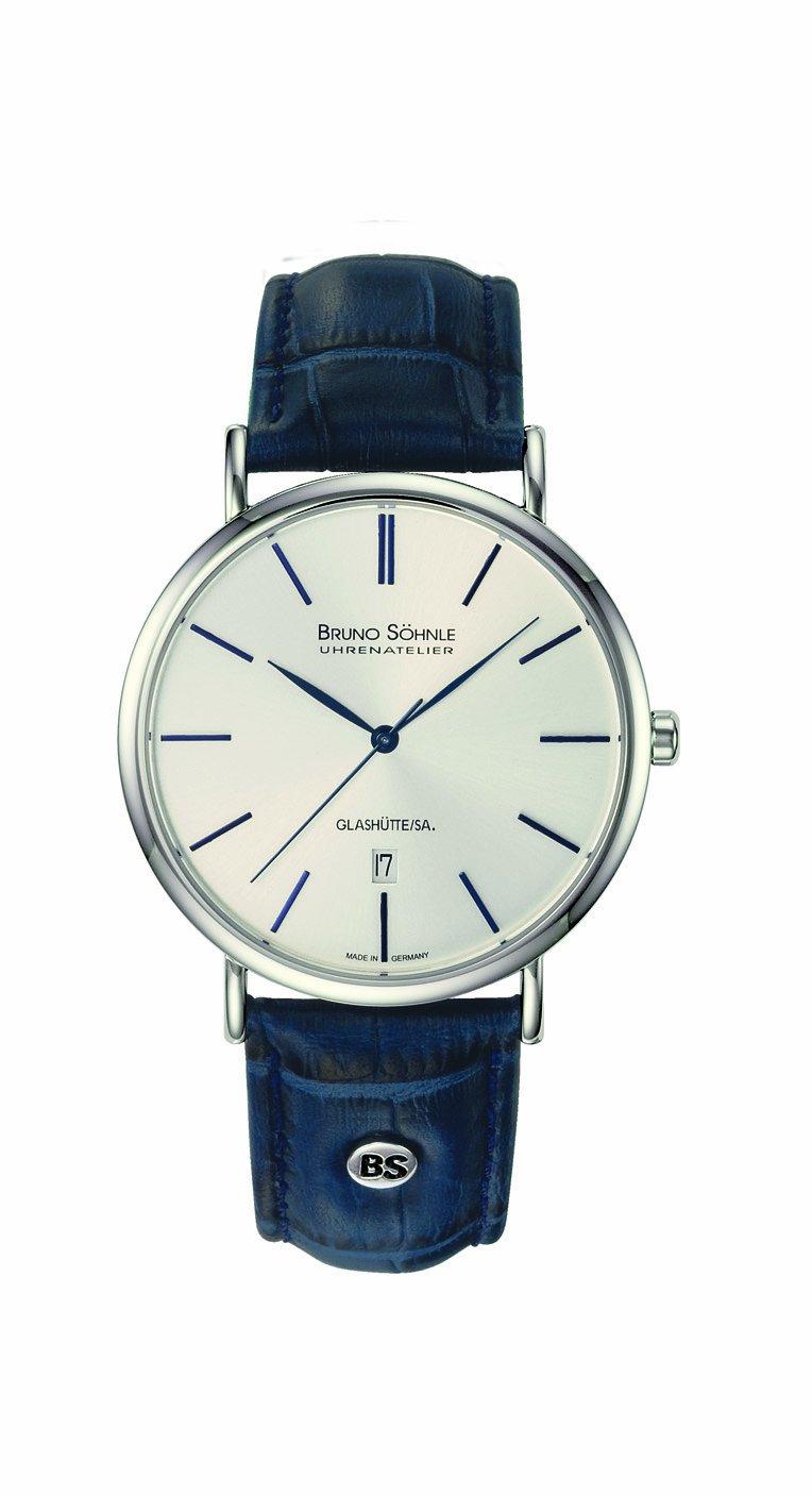 Herren Analog Quarz Uhr mit Leder Armband 17-13085-243