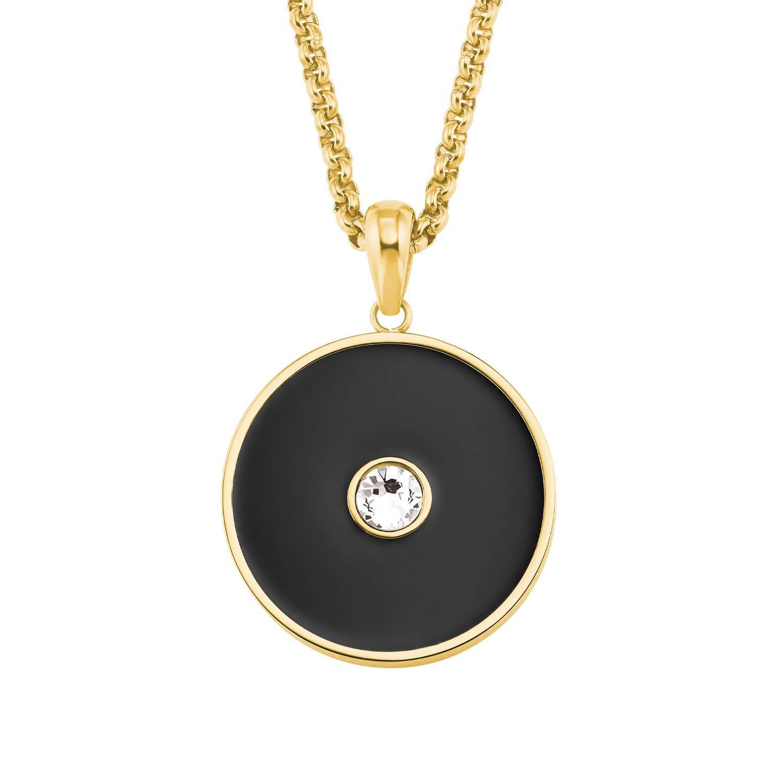Halskette für Damen aus Edelstahl mit IP Gold und Kristall von Swarovski®