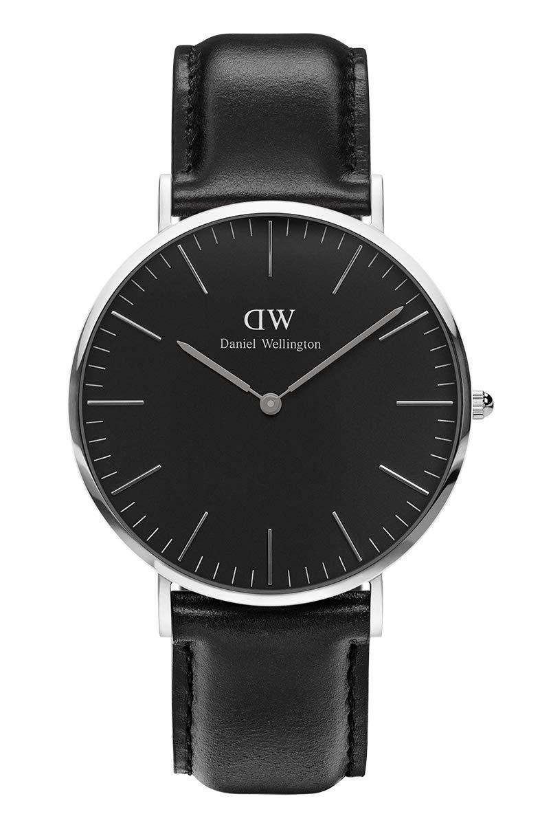 Classic Sheffield, Schwarz/Silber Uhr, 40mm, Leder, für Herren