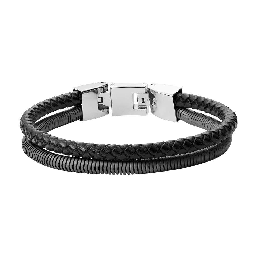 JF03320793 Herren Armband Silber Schwarz 19,5 cm