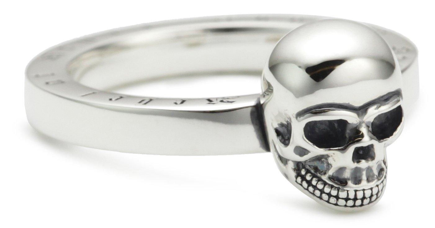 Damen Ring Totenkopf 925er Sterlingsilber, Geschwärzt TR1876-001-12