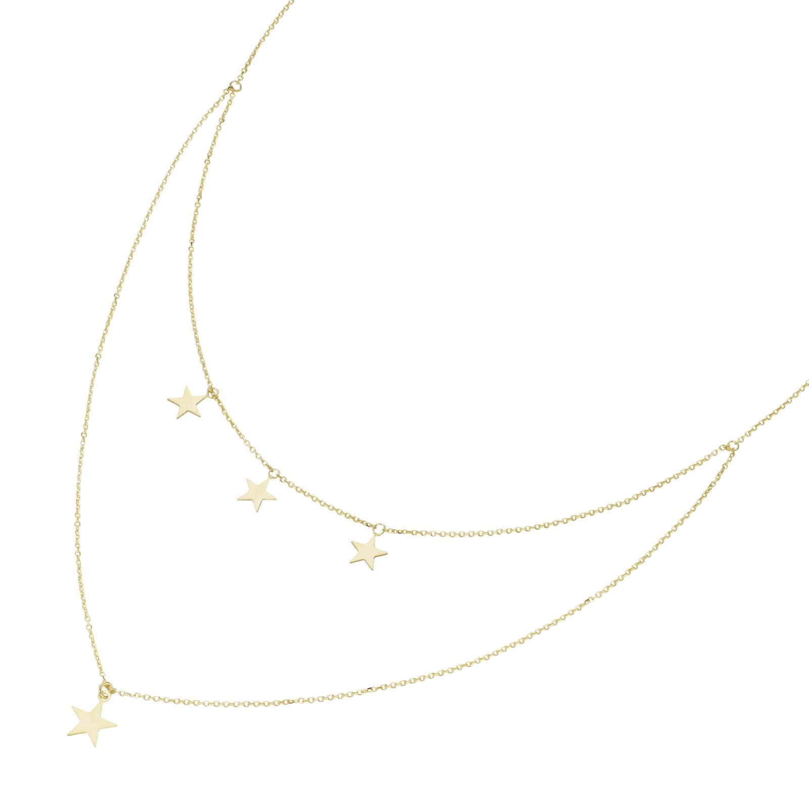 4 Sterne im Mittelteil, Gold 375