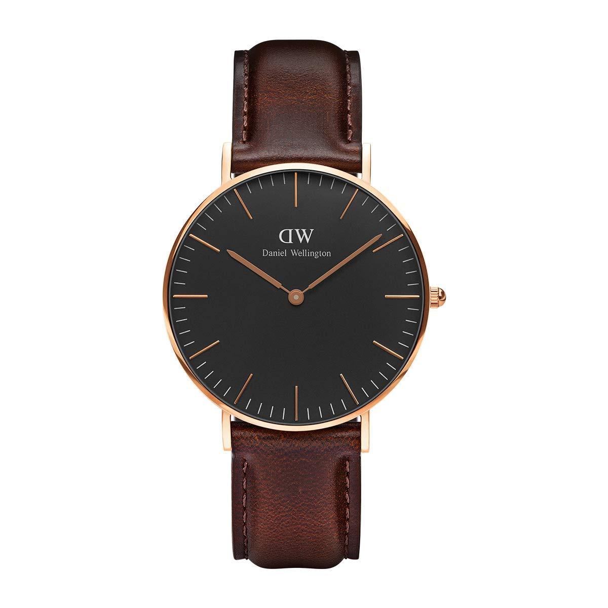 Classic Bristol, Dunkelbraun/Roségold Uhr, 36mm, Leder, für Damen und Herren