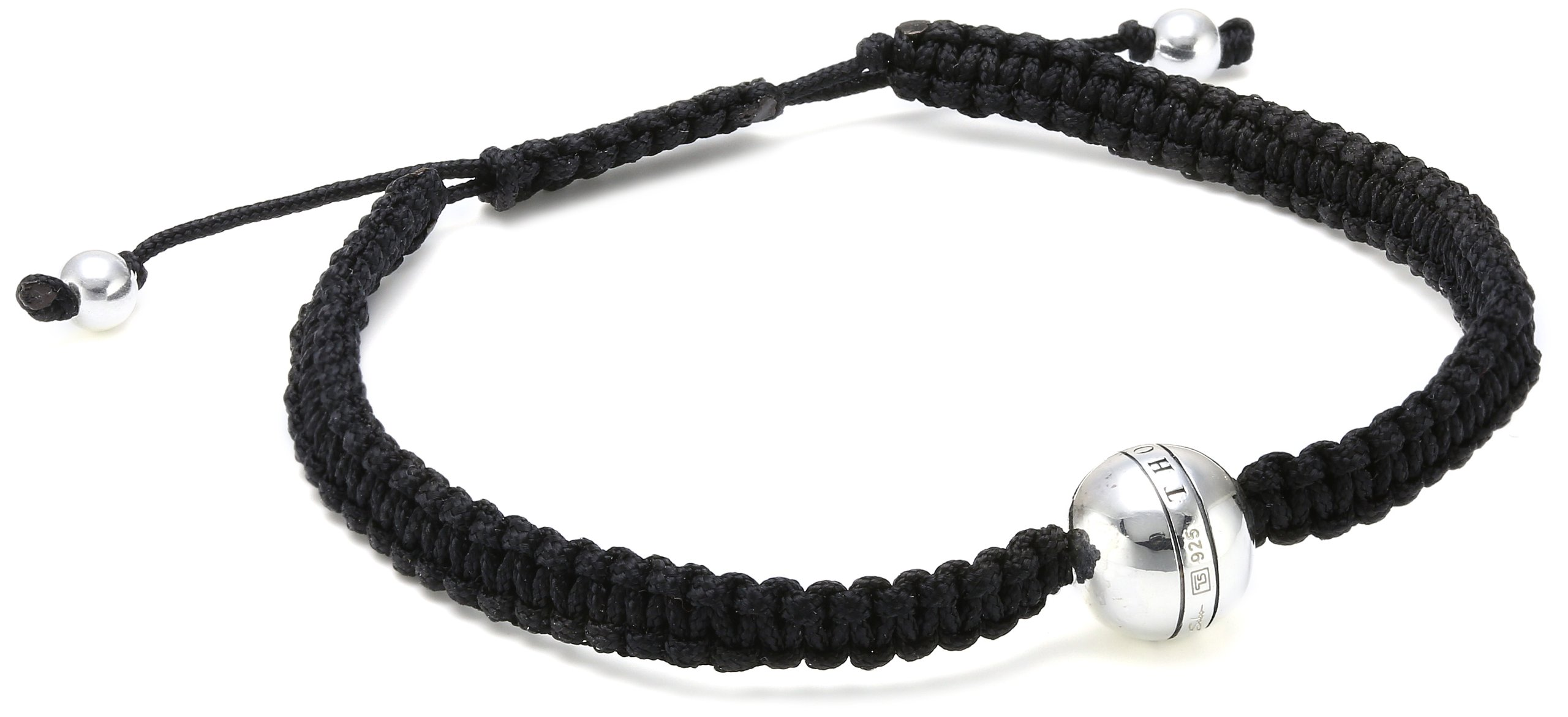 Damen-Armband Sterling Silber Rebel at heart längenverstellbares Stoffarmband Breite 0,6 cm A1119-173-11-L