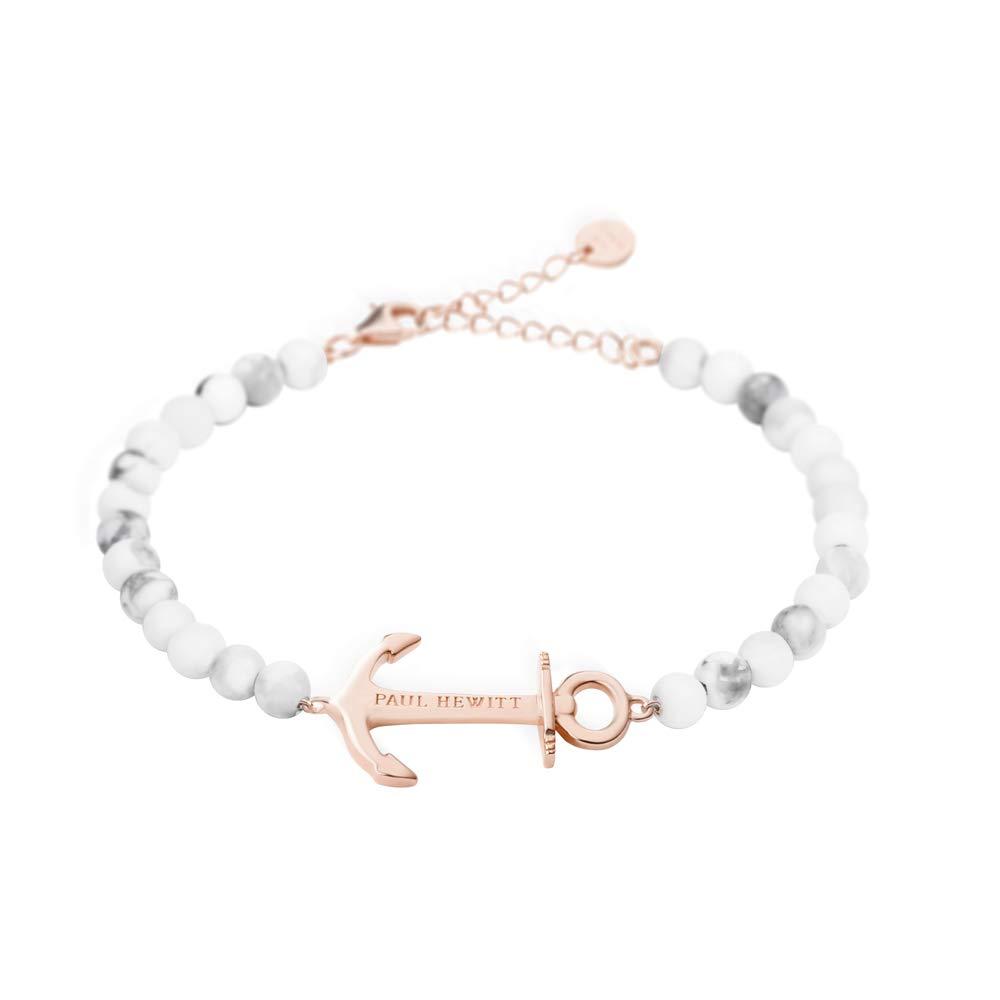 Perlenarmband Damen Anchor Spirit - Armkette mit Option Einer individuellen Gravur Damen Schmuck aus Edelstahl (Roségold)