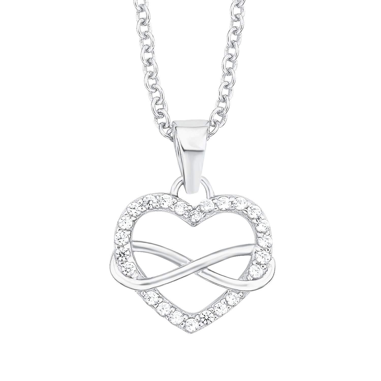 Kette mit Anhänger für Damen Infinity, 925er Sterling Silber rhodiniert
