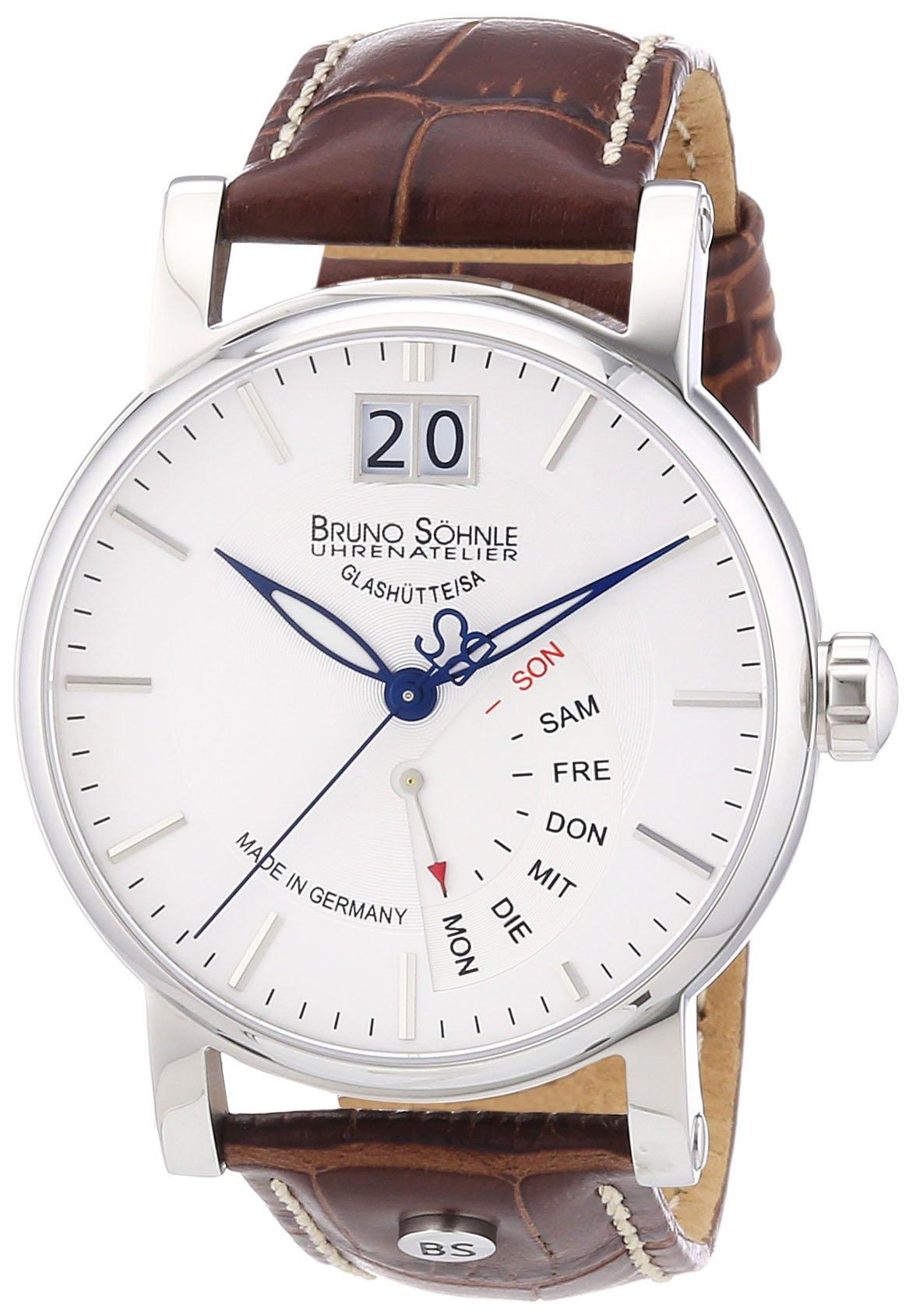 Herren-Armbanduhr XL Pesaro I Analog Quarz Leder 17-13073-241